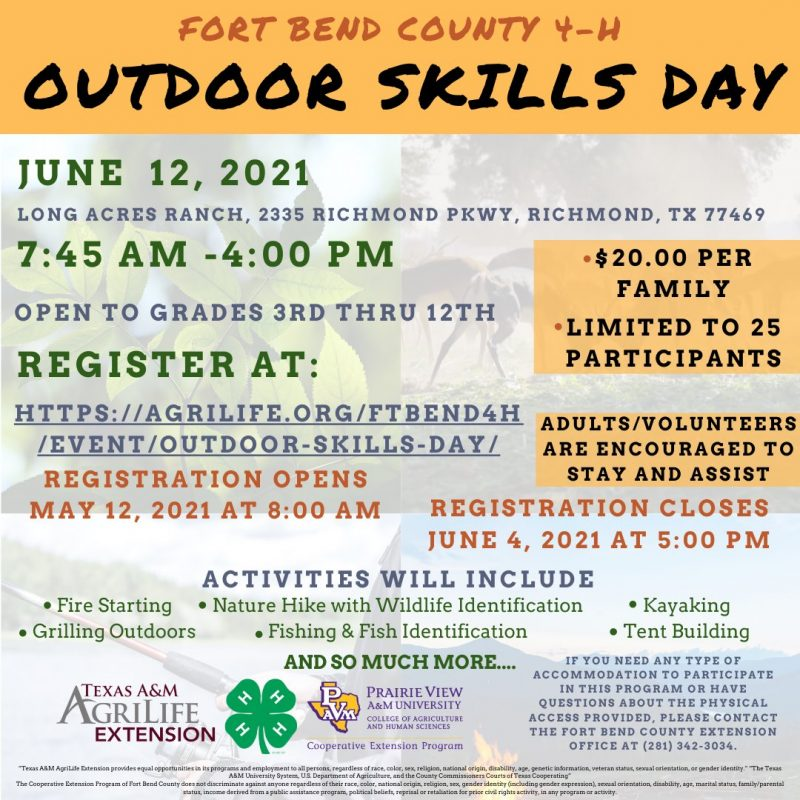 4H Outdoor Skills Day